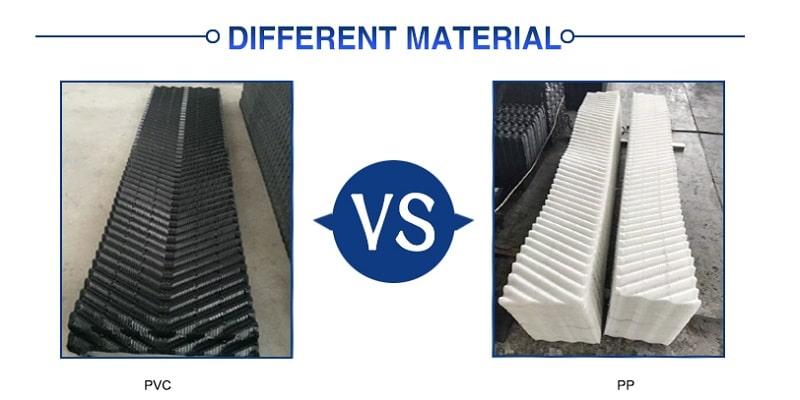 مقایسه پکینگ برج خنک کننده PVC و PP